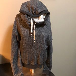 TNA small cowl neck hoodie size fits medium
